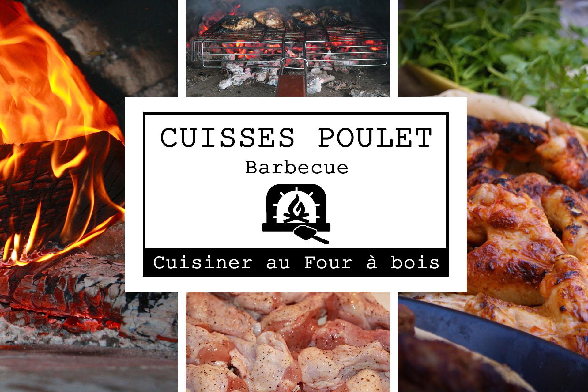 Affiche cuisses de poulet au barbecue